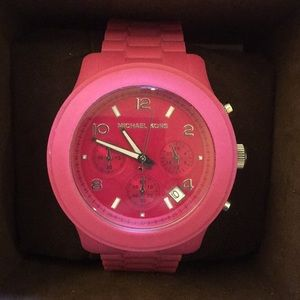 Rare Pink Silicon Micheal Kors Watch